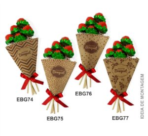 Embalagem Bouquet Gourmet Kraft c/ 10 und – Estampas – Mod.: EBG7001