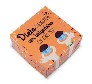 Caixa para 4 doces Divertida 8x8cm c/ 10 und - Mod.: CPD41