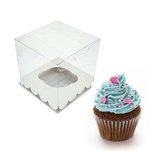 Kit Caixa para 1 Cupcake 10x10x10cm c/ 20 unidades