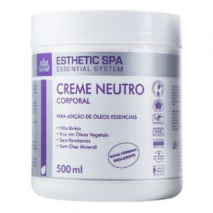 Creme Neutro Corporal Base para Massagem WNF 500 g