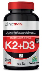 Vitamina K2+D3 500 mg 30 Cápsulas