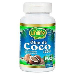 Óleo de Coco 1200 mg 60 Cápsulas