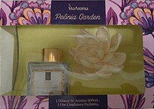 Kit Flor Difusora de Ambiente Peônia Garden 100 ml