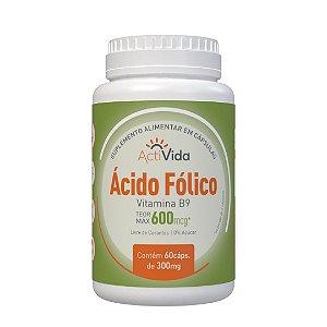 Ácido Fólico (Vitamina B9) 300 mcg 60 Cápsulas