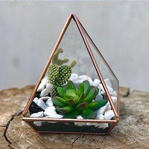 Terrário Pirâmide Cobre