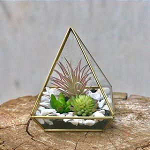 Terrário Pirâmide Ouro