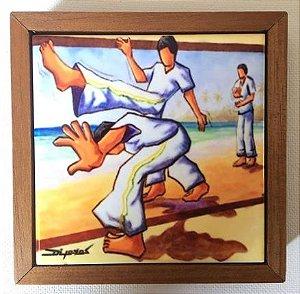 Cerâmica Emoldurada: Capoeira