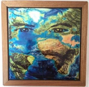 Cerâmica Emoldurada: Cristo em Todos os Lugares