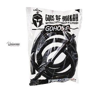 Mangueira para Arguile Lavável Gods of Hookah Gohose Preta