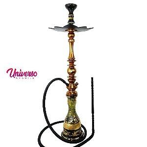 Kit Narguile Stem Mani Sultan Bronze Completo Pro