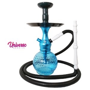 Kit Stem Orion Hookah Mini Loki Azul Claro completo