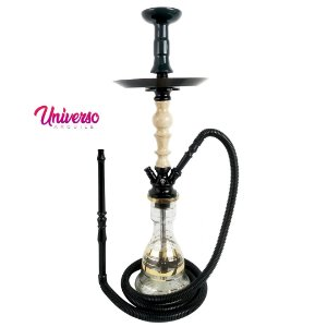 Kit Arguile Gods Of Hookah Mini Gaia Preto C/ Mármore Basic