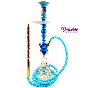 Kit Arguile Completo Medio Gods Of Hookah Mini Cronos Azul Clean