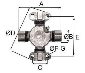 Cruzeta Mancalizada - Spicer  5C-3X - 5C3X 5347X
