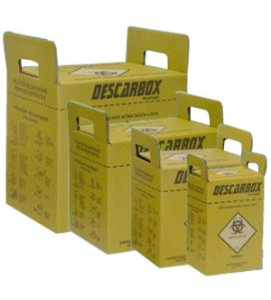 Coletor Perfuro Cortante 03Lts Ecologic Amarelo - Descarbox (Kit com 05)