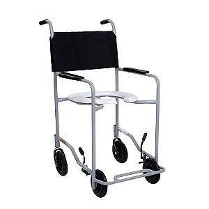 Cadeira de Rodas para Banho CDS201 Preta Até 85Kg - CDS