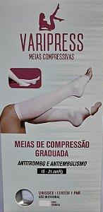 Meias de Compressão 7/8 (15-21mmhg) Anti Trombo e Anti Embolismo Branco - New Form