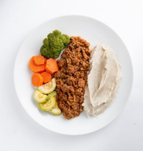 MarmiFit - Purê de Inhame com Patinho e Legumes Variados - 300g