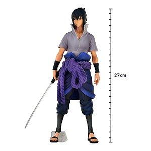 Action Figure - Figure Naruto Shippuden - Sasuke Uchiha - Grandista Nero - Banpresto