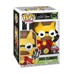 Funko Pop! Television: The Simpsons - Treehouse Of Horror - Devil Flanders - Edição Especial