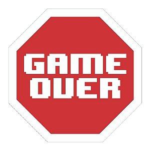 Placa De Parede - Game Over