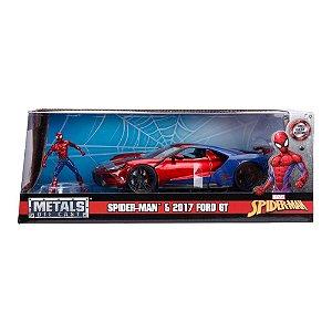 Colecionável Marvel Avengers - Homem Aranha E Carro Ford GT (2017) - Metal Die Cast