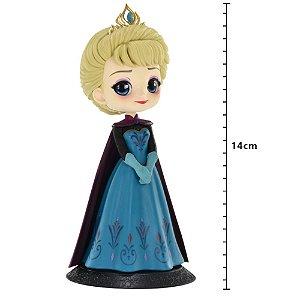 Action Figure - Disney - Q Posket - Princesa Elsa (Frozen) - Coronation Style - Banpresto