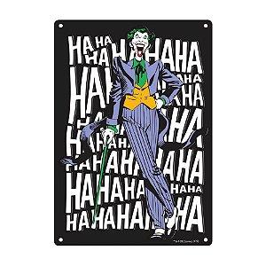 Placa De Parede - Joker Laugh - Aluminio