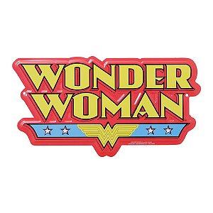 Placa De Parede - Wonder Woman logo - Aluminio