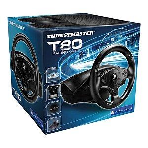 Conjunto Volante e Pedal Thrustmaster T80 Racing Wheel