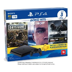 Console PlayStation 4 Bundle  Hits V5 - 3 Jogos - 3 meses PSN Plus