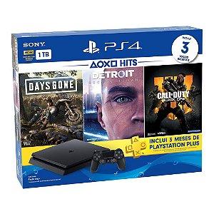Console PlayStation 4 Bundle Hits V5.1 - 3 Jogos - 3 meses PSN Plus