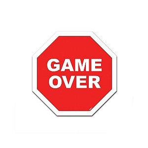 Placa de Parede Estilo Trânsito - Game Over