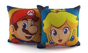 Kit Mini Almofadas Mario And Peach - Games