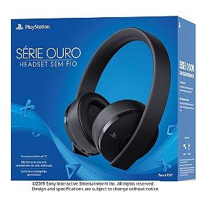 Headset Sem Fio Wireless 7.1 Série Ouro Cor Preta  - Sony - PS4