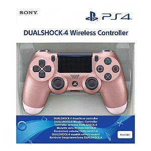 Controle Sem Fio Dualshock 4 Sony Rosa Dourado - PS4