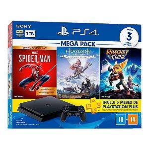 Console PlayStation 4 Hits Bundle Hits Mega Pack 15 - 1TB -  3 Jogos - 3 meses PSN Plus