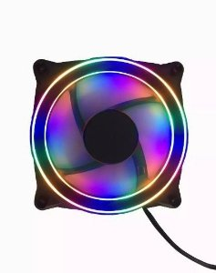 Cooler FAN RGB Gamer 120mm LED Colorido BF-8085