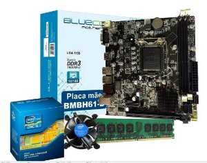 Kit Upgrade Core i3 LGA 1155 + Placa Mãe H61 1155
