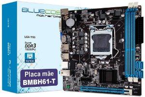Placa-Mãe Bluecase BMBH61-T para Intel 1155 DDR3 uATX, VGA - Bulk