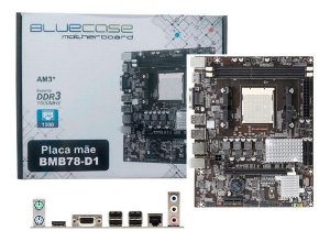 Placa Mãe Bluecase Socket Am3+ BMB78-D1 com Rede Gigabit