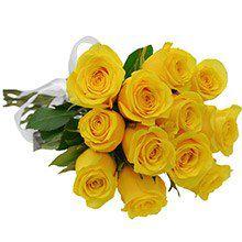 BOUQUET 12 ROSAS AMARELAS