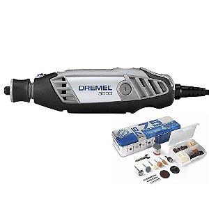 Micro Retífica Dremel 3000 Com 85 Acessórios 10 + 75 220v