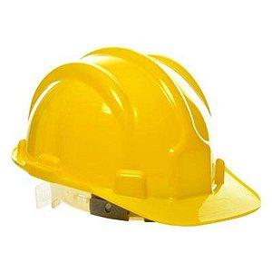 Capacete Segurança Amarelo Plastcor com carneira