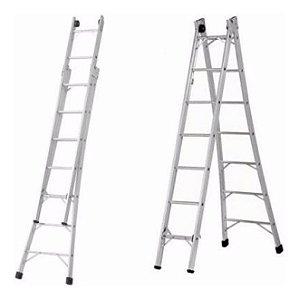Locação escada aluminio 4,20X7,20
