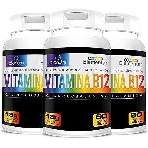 Kit 3 - B12 Cianocobalamina 180cps - Bionutrir