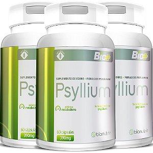 Kit 3 Psylium (60cáps) Total180 Cápsulas - Bionutrir
