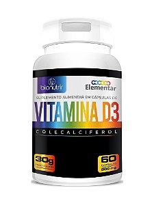 Vitamina D3 (2000 Ui) 60 Cápsulas - Bionutrir