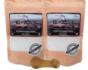 Kit Zeolita Clinoptilolita = 2 Premium 200g cada - Total de 4 ciclos - {1 Dosador dentro da embalagem de cada Zeólita}