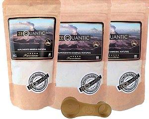 Kit Zeólita Clinoptilolita 2x 200g Premium + 1x 100g Premium Total de 5 ciclos Com Dosador